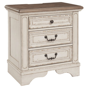 Realyn Three Drawer Night Stand
