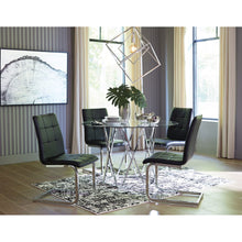 Load image into Gallery viewer, Madanere 5 Piece Black Dining Room Table Set