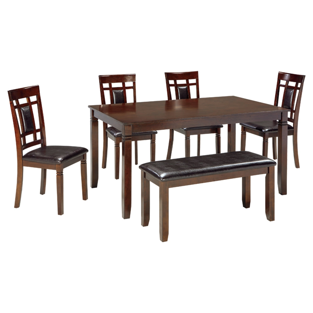 Bennox Dining Room Table,Chair abd Bench Set (6/CN)