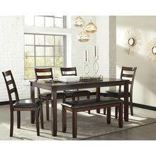 Load image into Gallery viewer, Coviar Dining Room Table,Chair and Bench Set (6/CN)