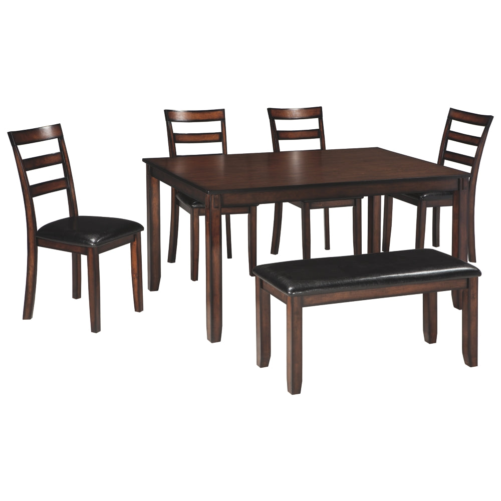 Coviar Dining Room Table,Chair and Bench Set (6/CN)