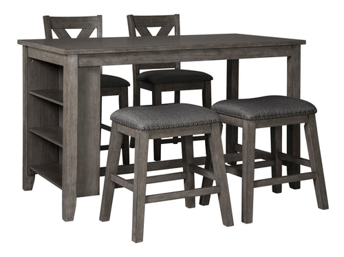 Caitbrook RECT Dining Room Counter Table and Stool 5 Pc Set