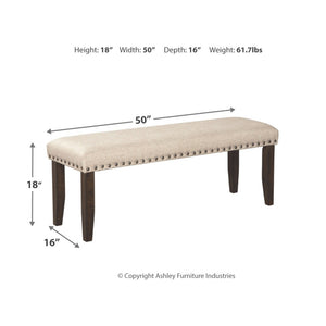 Rokane Large UPH Dining Room Bench