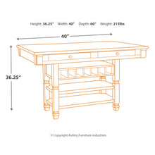 Load image into Gallery viewer, Bolanburg RECT Dining Room Counter Table