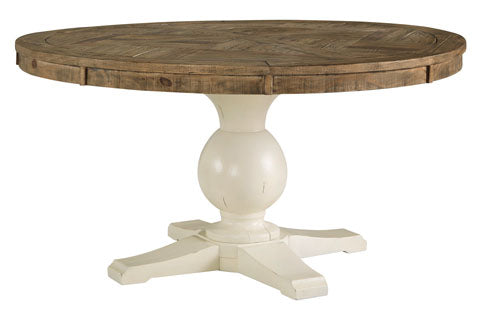 Grindleburg Round Dining Room Table Top & Base
