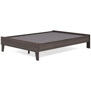 Brymont Full Platform Bed - Dark Gray
