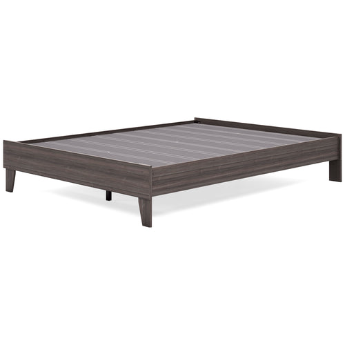 Brymont Queen Platform Bed - Dark Gray