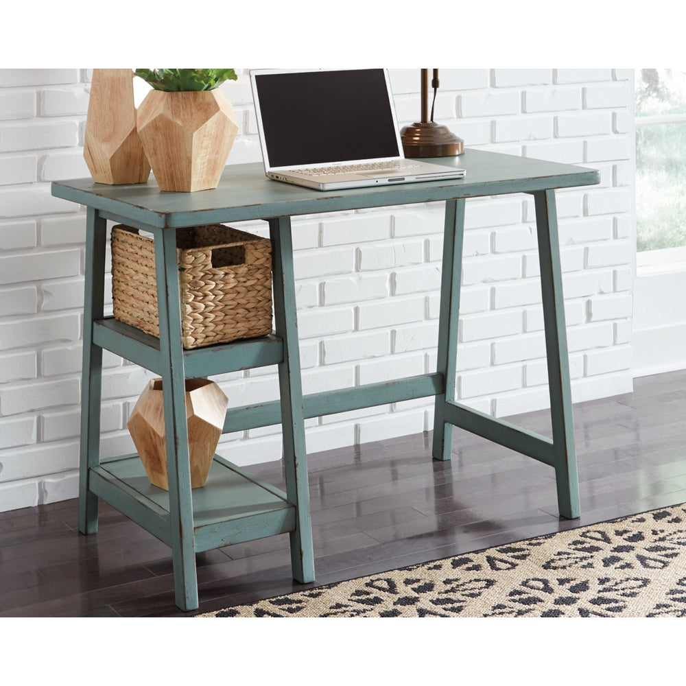 Mirimyn Home Office Small Desk - Antiqued Blue