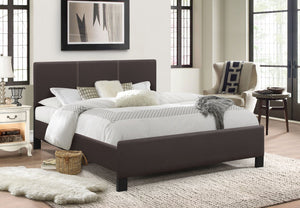 173 Espresso with Contrast Stitching Upholstered Bed