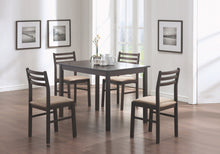 Load image into Gallery viewer, DINING SET - 5PCS SET / CAPPUCCINO VENEER