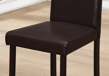 "Load image into Gallery viewer, I 1172 DINING CHAIR - 2PCS / 36""H DARK BROWN LEATHER-LOOK"