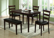 Load image into Gallery viewer, DINING SET - 5PCS SET / CAPPUCCINO BENCH & 3 SIDE CHAIRS