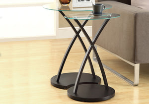 I 3013 NESTING TABLE - 2PCS SET / CAPPUCCINO BENTWOOD
