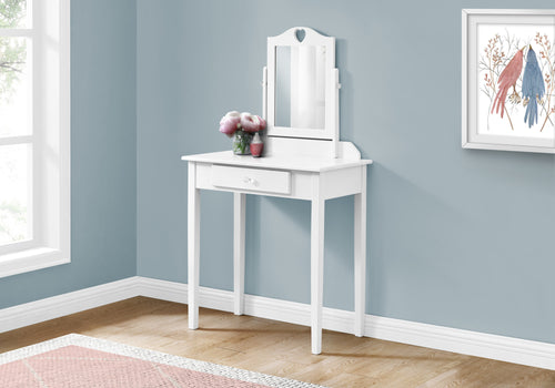 I 3326 VANITY - WHITE / MIRROR AND STORAGE DRAWER