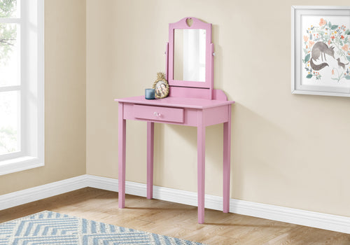 I 3328 VANITY - PINK / MIRROR AND STORAGE DRAWER