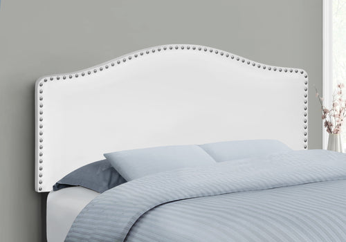 I 6012F BED - FULL SIZE / WHITE LEATHER-LOOK HEADBOARD ONLY