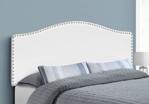 I 6012Q BED - QUEEN SIZE / WHITE LEATHER-LOOK HEADBOARD ONLY