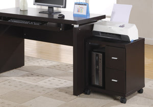 I 7004 OFFICE CABINET - CAPPUCCINO 2 DRAWER ON CASTORS
