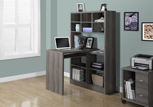 I 7041 COMPUTER DESK - DARK TAUPE LEFT OR RIGHT FACING CORNER