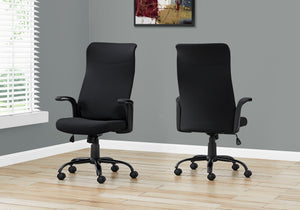 I 7248 OFFICE CHAIR - BLACK / BLACK FABRIC / MULTI POSITION