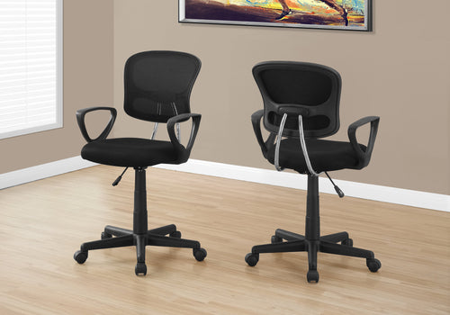 I 7260 OFFICE CHAIR - BLACK MESH JUVENILE / MULTI-POSITION