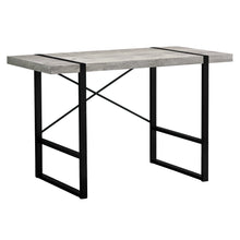 "Load image into Gallery viewer, I 7316 COMPUTER DESK - 48""L / GREY RECLAIMED WOOD / BLACK METAL"