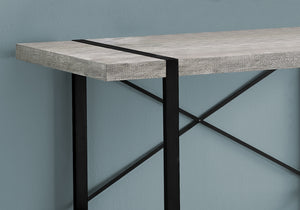 "I 7316 COMPUTER DESK - 48""L / GREY RECLAIMED WOOD / BLACK METAL"