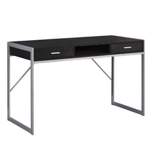 "Load image into Gallery viewer, I 7366 COMPUTER DESK - 48""L / CAPPUCCINO / SILVER METAL"