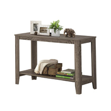 "Load image into Gallery viewer, I 7915S ACCENT TABLE - 44""L / DARK TAUPE HALL CONSOLE"