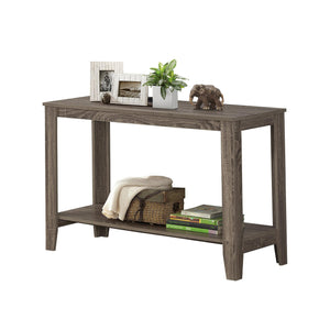 "I 7915S ACCENT TABLE - 44""L / DARK TAUPE HALL CONSOLE"
