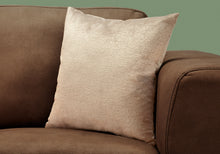 "Load image into Gallery viewer, I 9270 PILLOW - 18""X 18"" / TAUPE MOSAIC VELVET / 1PC"