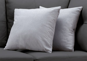 "I 9295 PILLOW - 18""X 18"" / PATTERNED LIGHT GREY / 2PCS"
