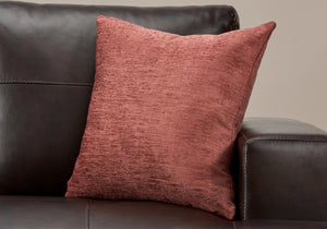 "I 9300 PILLOW - 18""X 18"" / SOLID DUSTY ROSE / 1PC"