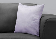 "Load image into Gallery viewer, I 9324 PILLOW - 18""X 18"" / LIGHT PURPLE FEATHERED VELVET / 1PC"