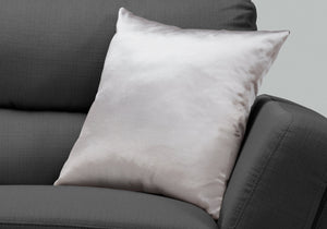 "I 9336 PILLOW - 18""X 18"" / SILVER SATIN / 1PC"