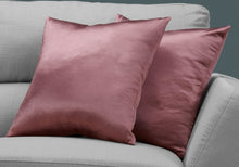"Load image into Gallery viewer, I 9339 PILLOW - 18""X 18"" / PINK SATIN / 2PCS"
