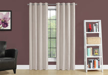 "Load image into Gallery viewer, I 9818 CURTAIN PANEL - 2PCS / 52""W X 95""H IVORY ROOM DARKENING"