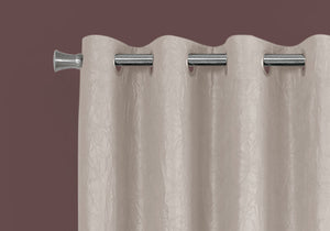"I 9818 CURTAIN PANEL - 2PCS / 52""W X 95""H IVORY ROOM DARKENING"