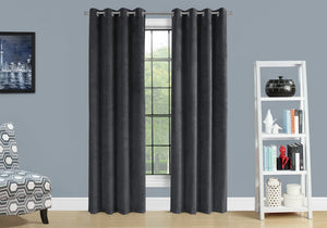 "I 9823 CURTAIN PANEL - 2PCS / 52""W X 84""H GREY ROOM DARKENING"