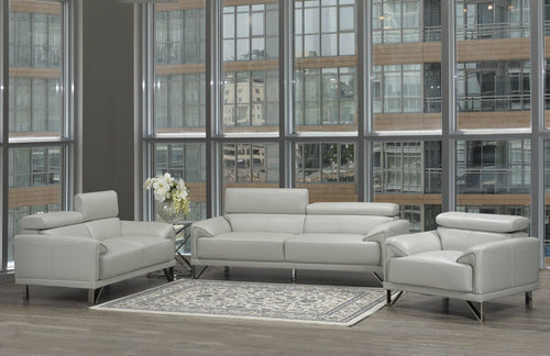Layala 3pc Package -Sofa, Loveseat & Chair - Light Grey