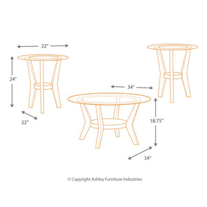 Fantell Occasional Table Set (3/CN)