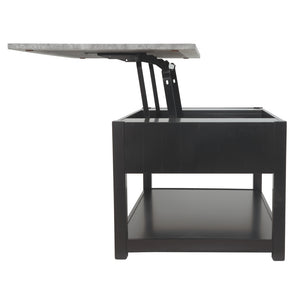 Ezmonei Lift Top Cocktail Table - Black/Gray