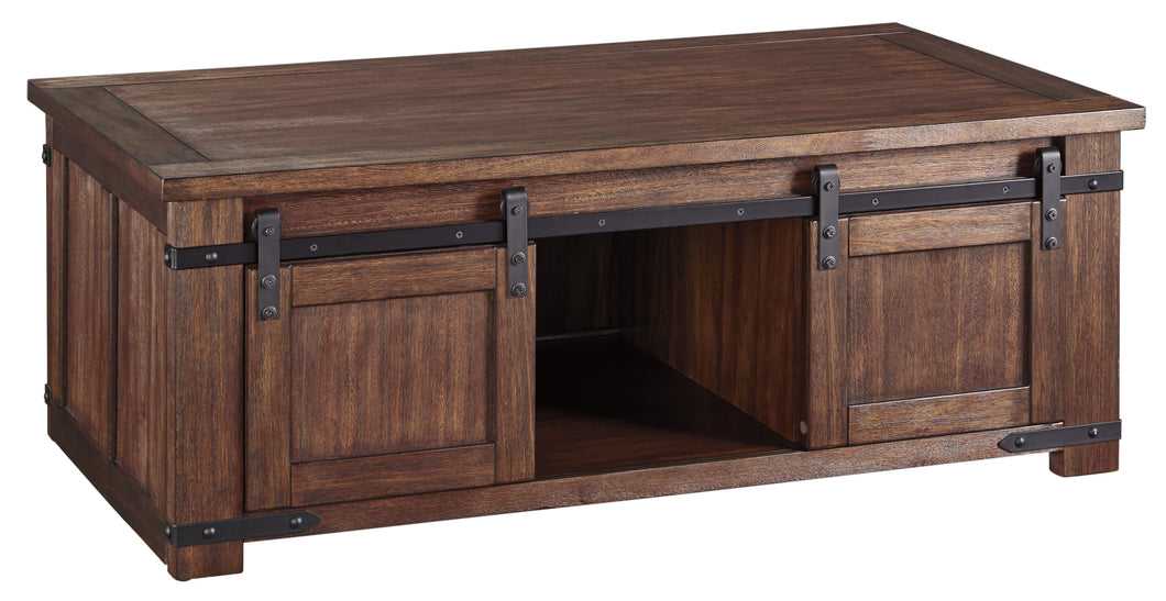 Budmore Rectangular Cocktail Table - Brown