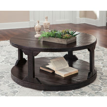 Load image into Gallery viewer, Rogness Round Cocktail Table - Rustic Brown