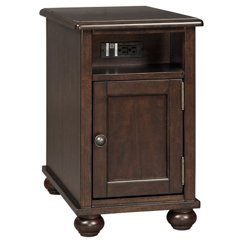 Barilanni Chair Side End Table - Dark Brown