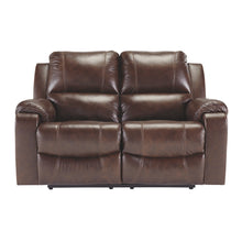 Load image into Gallery viewer, Rackingburg Leather Reclining Loveseat