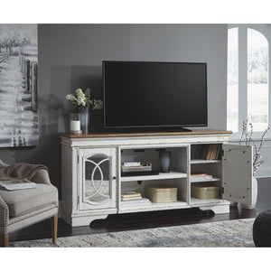 Realyn XL TV Stand w/Fireplace Option