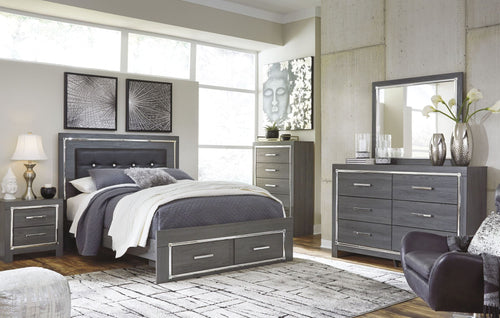 Lodanna Queen Storage Panel Bed 6Pc Set