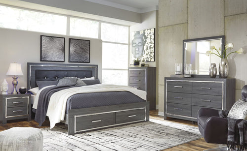 Lodanna King Panel Storage Bed 6Pc Set