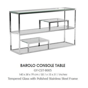 BAROLO SILVER CONSOLE TABLE